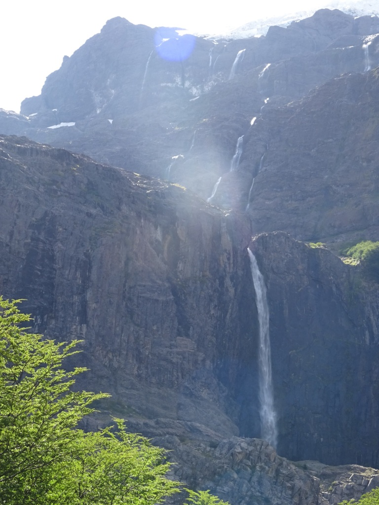 Waterfall off the glacier