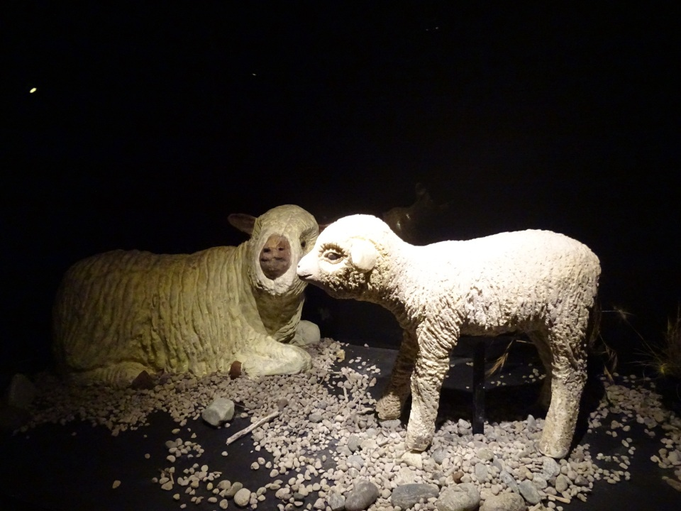 A lamb made completely of chocolate