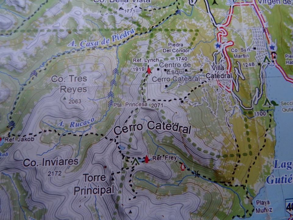 The map of our hike.  Look for red flag that says fray nex to it