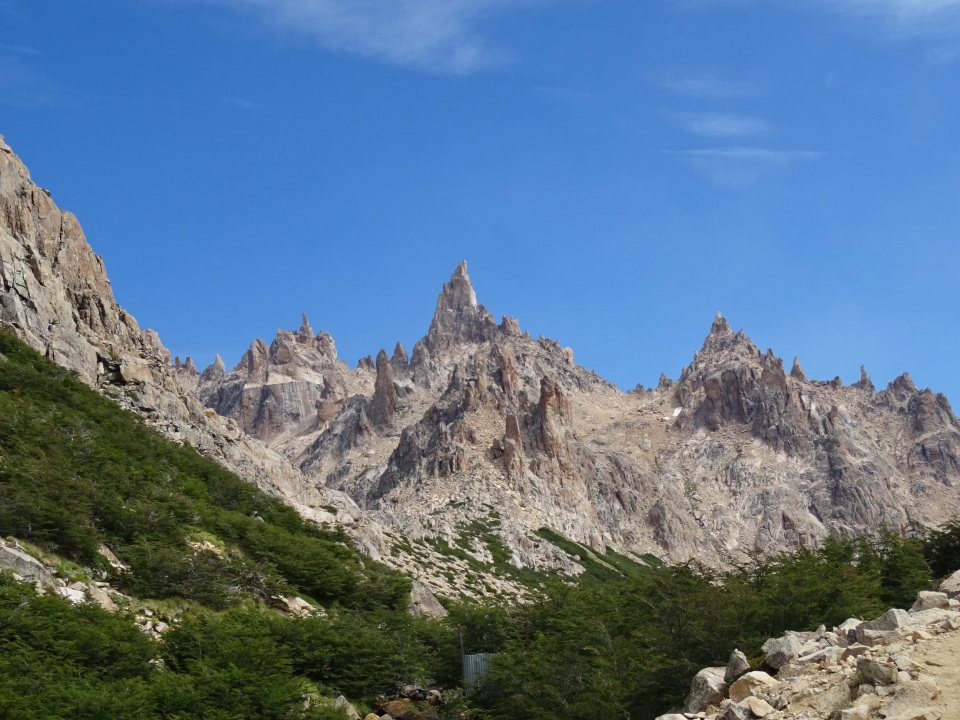 The view at the top of Refugio Fray- Cerro cathederal in Bariloche- well worth the effort