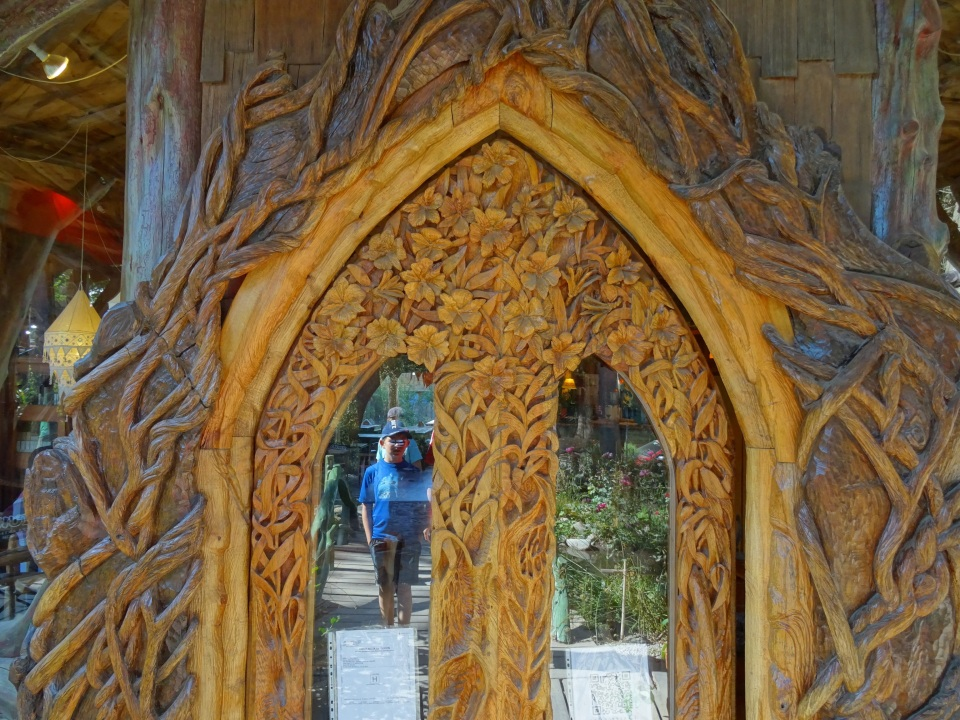 Hand carved door in the colonial suiza