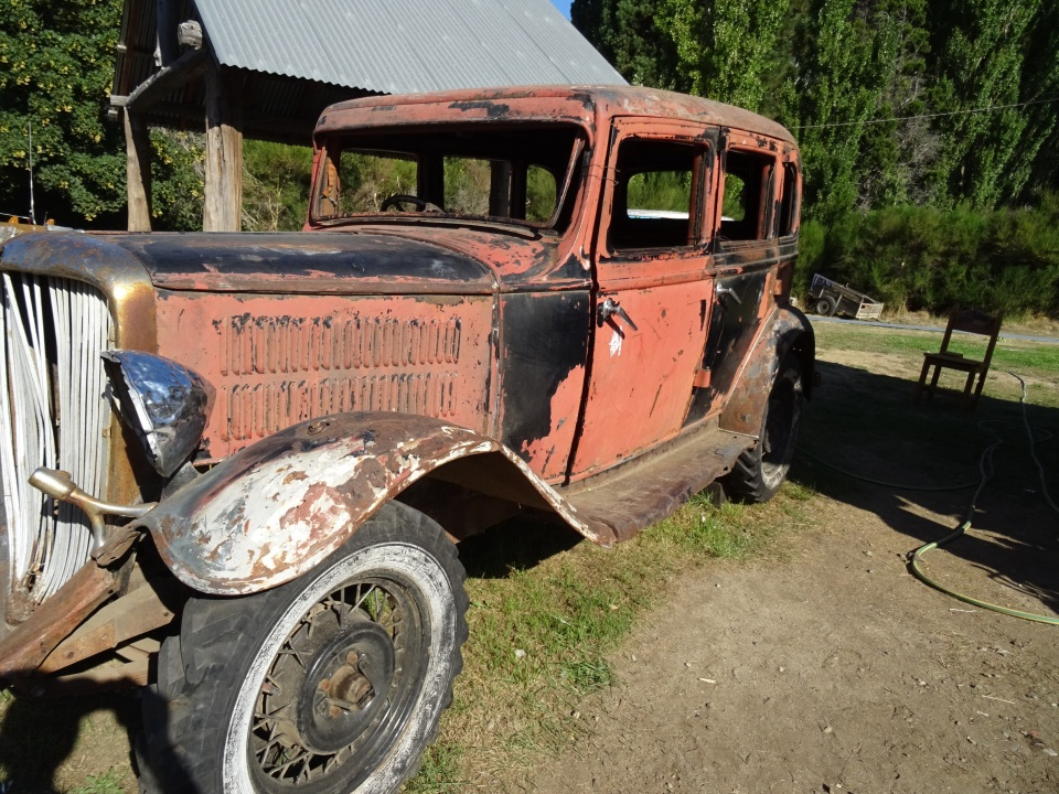The boys found this old car - rat rod potential for sure