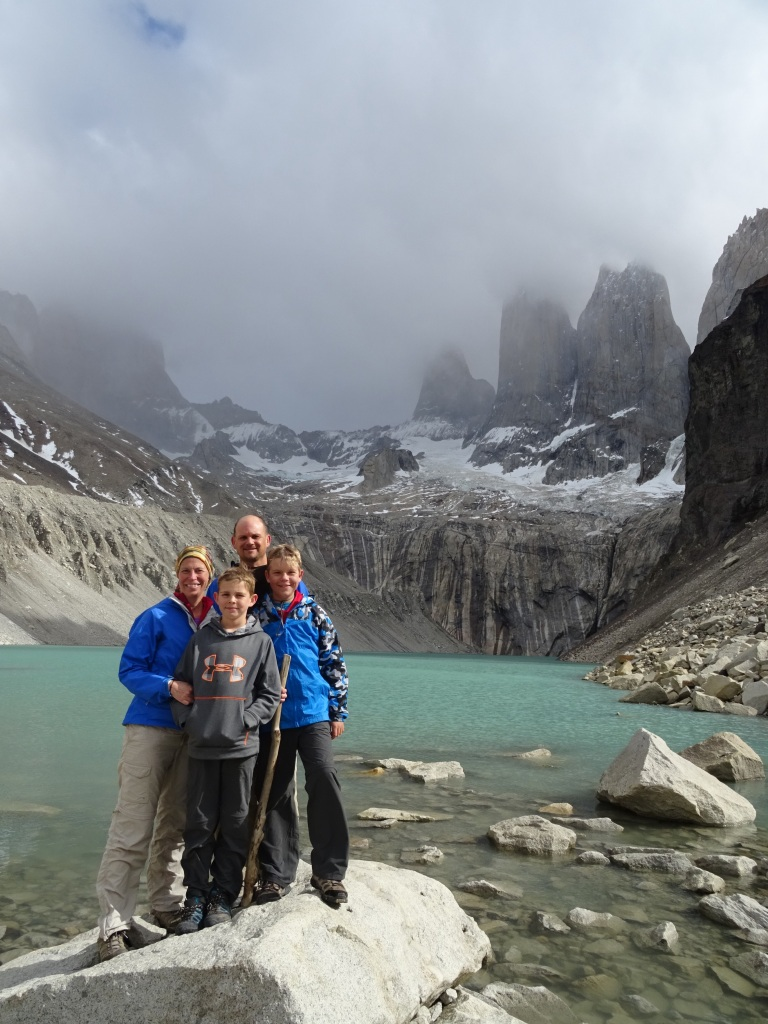 We made it to the top - you have to go all the way to see the Torres Del Paine - so you have to earn it.  No tour bus to see this view...