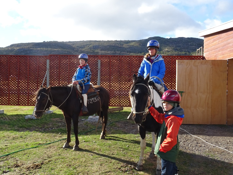 Getting Ready to go - we can do this! We took riding lessons.