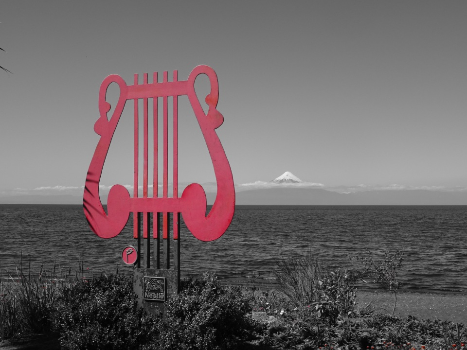 Frutillar Chile - view from the beach.  A great musical oriented place.