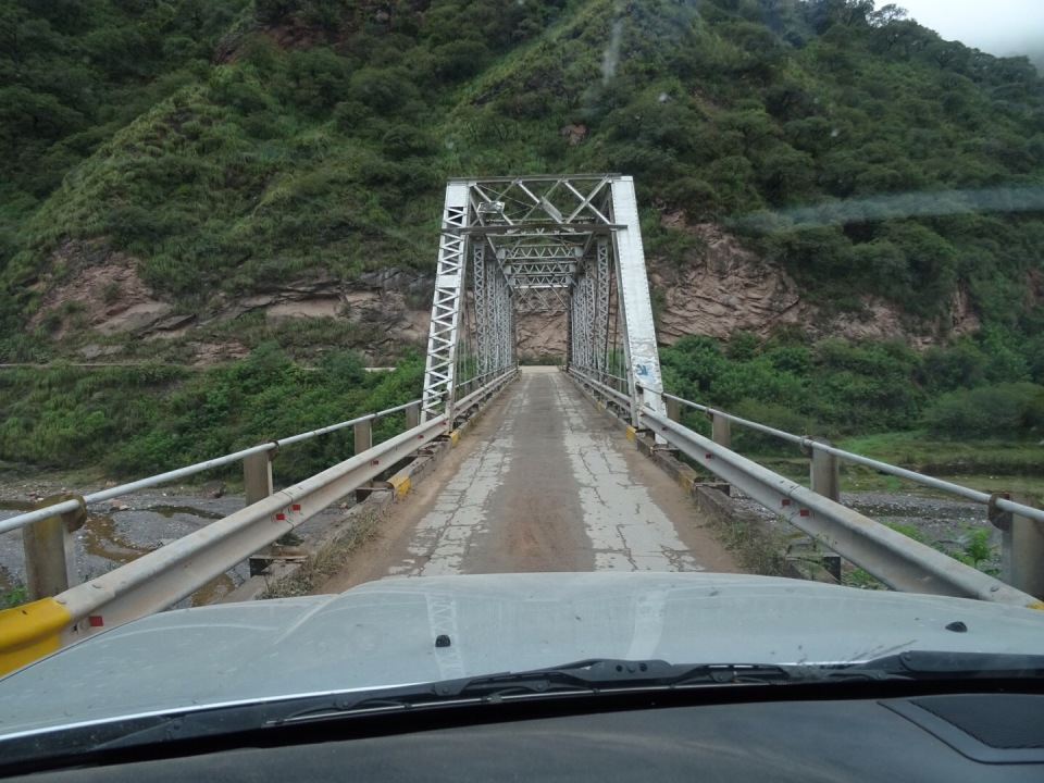 Typical one way bridge/road