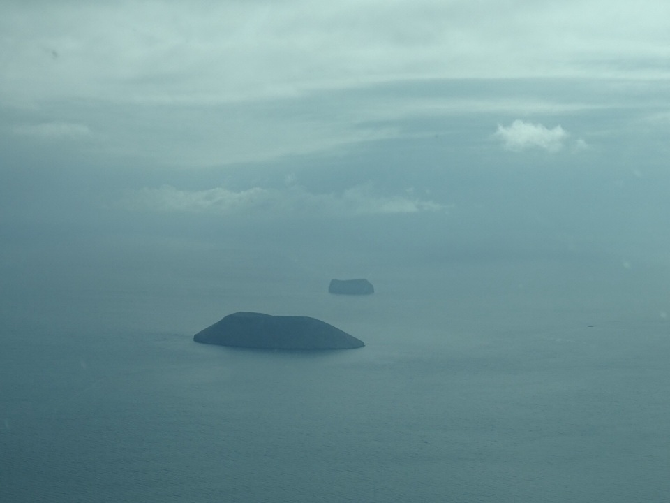 small islands from the air